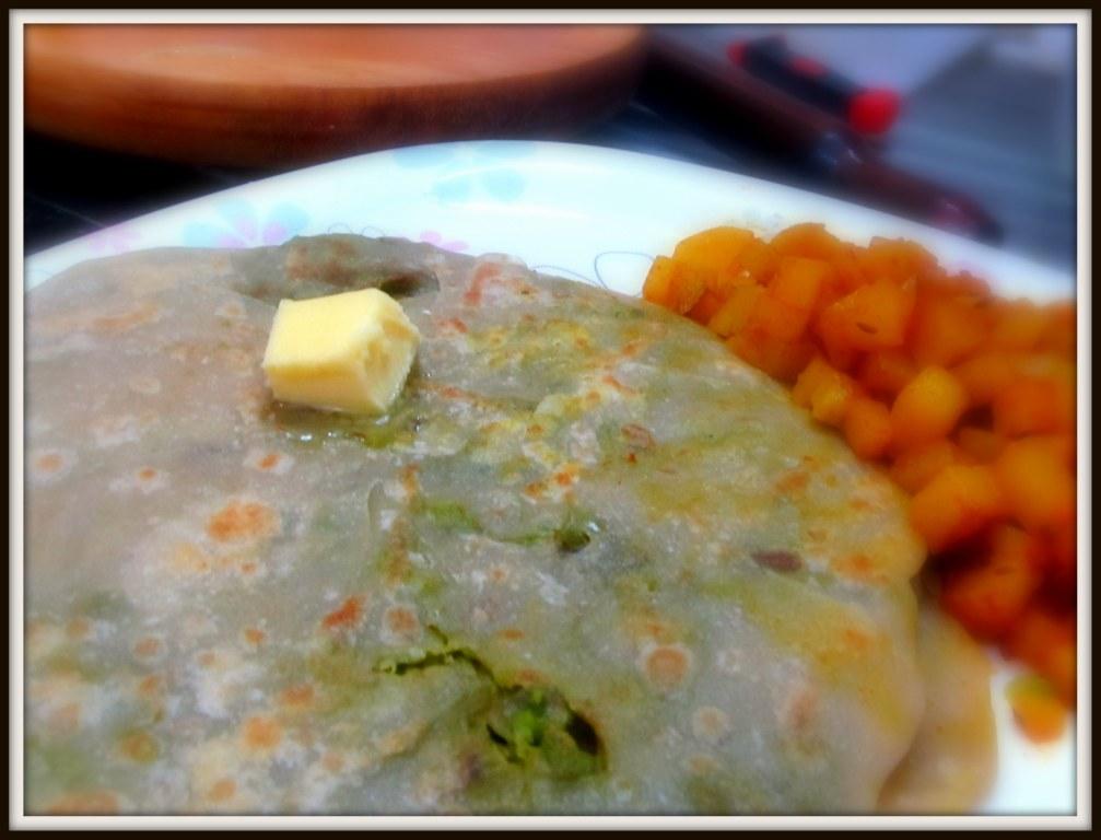 Green-Peas Paratha