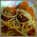 Spaghetti with Meat-Balls in Tomato Sauce