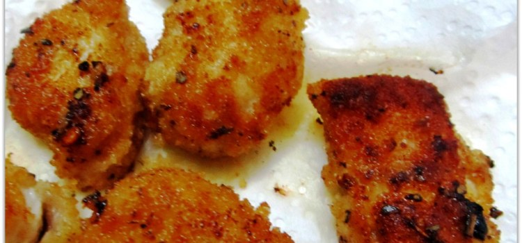 Pan Fried Chicken Nuggets