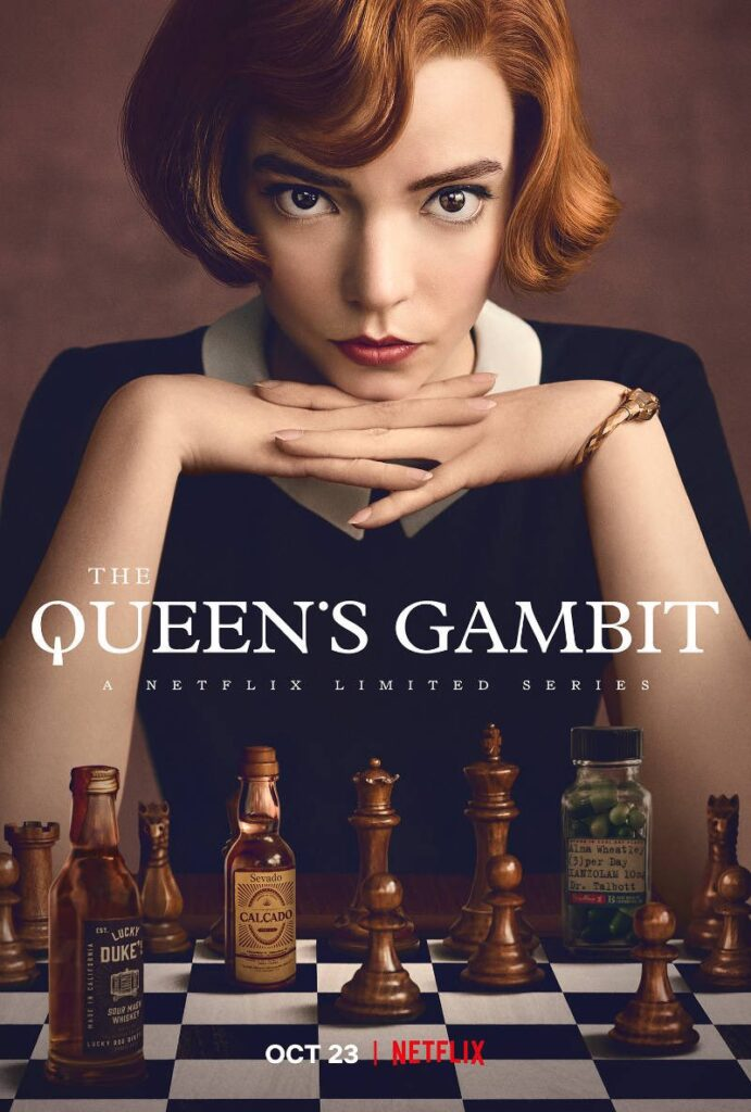 poster for the series the queen's gambit