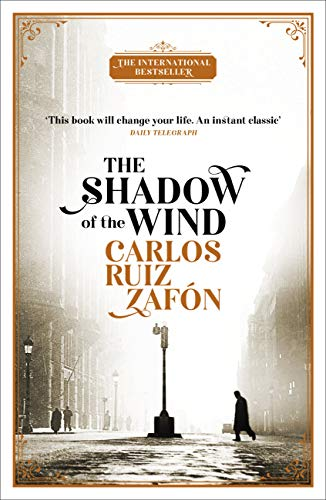 book cover of The shadow of wind. image source amazon.
